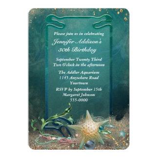 Elegant Ocean Theme Birthday 5x7 Paper Invitation Card