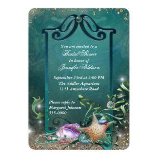 Elegant Ocean Themed Bridal Shower Card
