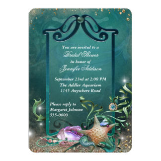Elegant Ocean Themed Bridal Shower 5x7 Paper Invitation Card