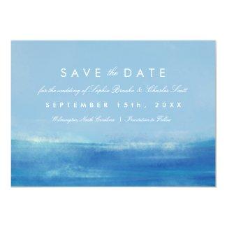 Elegant Ocean Watercolor Wedding Save the Date Card