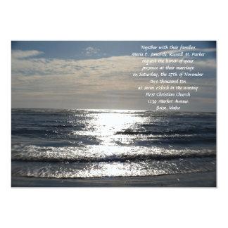 """Elegant Ocean Wedding 5"""" X 7"""" Invitation Card"""