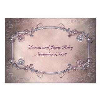 Elegant Old-Fashioned Vow Renewal 5x7 Paper Invitation Card