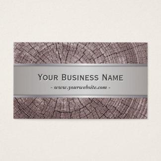 Elegant Old Wood Tree Rings Texture Business Card