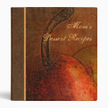 "Elegant Old World Pears 1"" Binder"