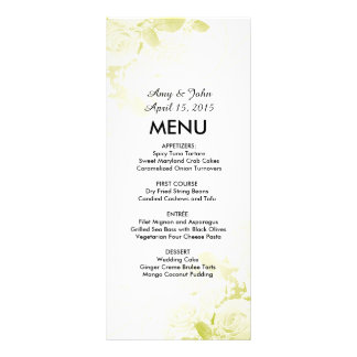 Elegant olive green rose bouquet wedding vr6 customized rack card