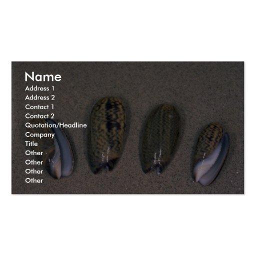 Elegant olive (Oliva elegans) Shell Business Card Template