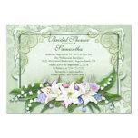 Elegant Ombre Floral Bridal Shower Invitation