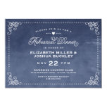 Elegant Ombre Vintage Script Rehearsal Dinner 5x7 Paper Invitation Card