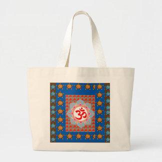Elegant OmMANTRA Mantra: Yoga Meditation Healing A Large Tote Bag