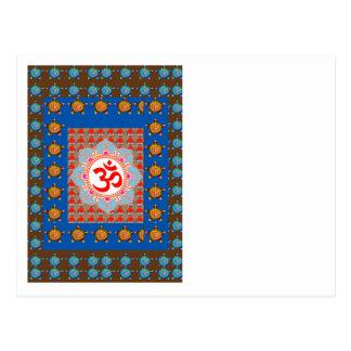 Elegant OmMANTRA Mantra: Yoga Meditation Healing A Postcard