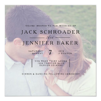 Elegant Opaque Photo Overlay Wedding Invite