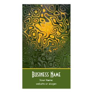 Elegant Orange Black Khaki Business Card