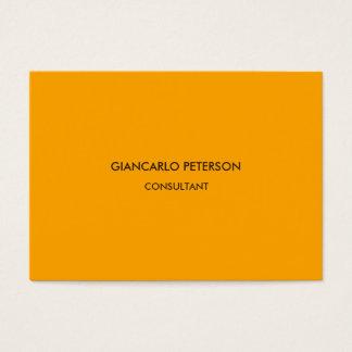 Elegant Orange Brown Minimalist Professional Business Card