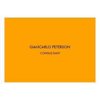 Elegant Orange Brown Minimalist Professional Large Business Card