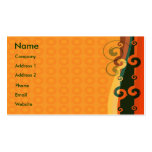 Elegant Orange Business Cards