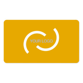 Elegant orange card. Customize with your own logo. Double-Sided Standard Business Cards (Pack Of 100)