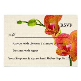 Elegant Orange Orchids Response RSVP Card