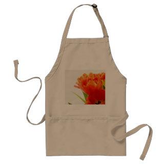 Elegant Orange Tulips Adult Apron