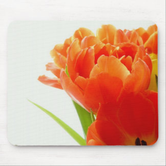 Elegant Orange Tulips Mouse Pad
