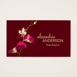 Elegant Orchid 2 Designer Business Card
