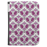 Elegant Orchid Floral Paisley Pattern On White Kindle Case