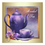 Elegant Orchid Gold Purple Bridal Tea Party Announcement