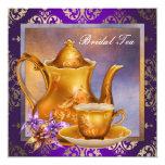 Elegant Orchid Gold Purple Bridal Tea Party Invite