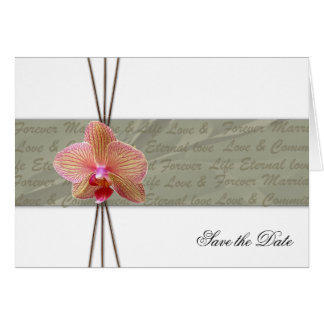 Elegant Orchid Save the Date folded greeting card