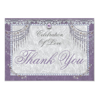 Elegant Orchid Thank You Card