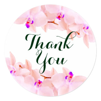 Elegant Orchid Thank you Cards