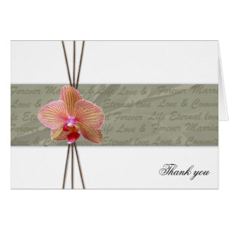 Elegant Orchid Thank you - Customized Card