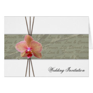 Elegant Orchid Wedding Invitation