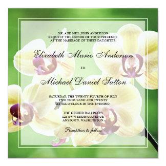 Elegant Orchids Wedding Invitations