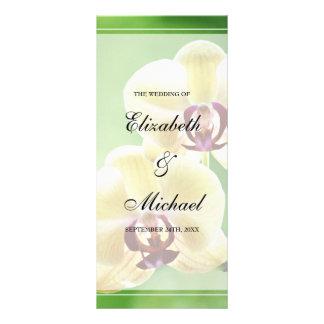 Elegant Orchids Wedding Program