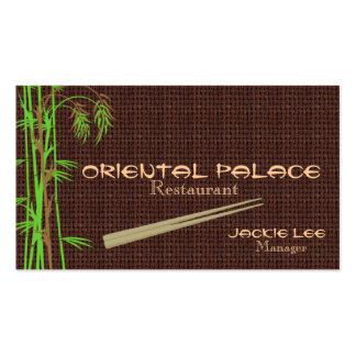 Elegant Oriental Restaurant Card TBA 4/29/2011