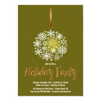 Elegant Ornament Christmas Party Invite-dark olive