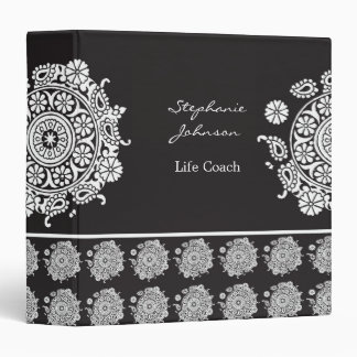 Elegant Ornament White/Black Avery Binder