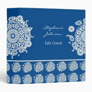 Elegant Ornament White/Royal Blue Avery Binder