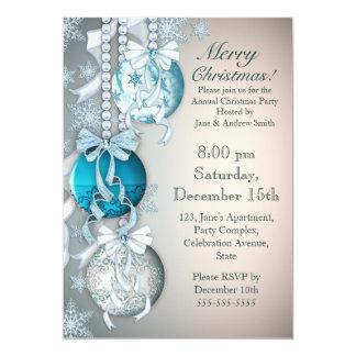 Elegant Ornaments Holiday Party Invitation