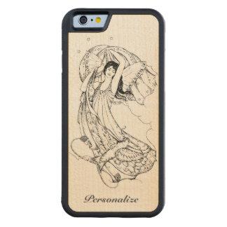 Elegant, Ornate Angel Gracefully Rising in Heaven Carved Maple iPhone 6 Bumper Case