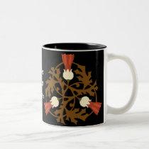elegant ornate floral pattern Two-Tone coffee mug