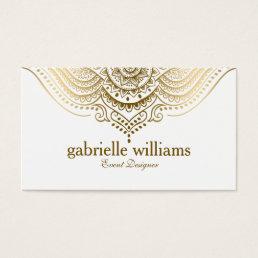 Elegant Ornate Gold Lace Geometric Swirls Business Card