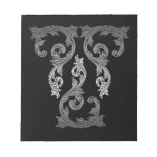 Elegant Ornate Goth Design Notepad