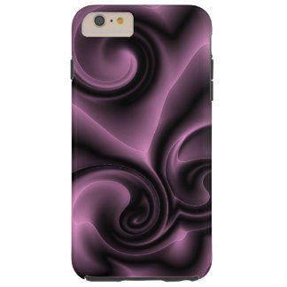 Elegant Ornate Psychedelic Purple Swirls Pattern Tough iPhone 6 Plus Case