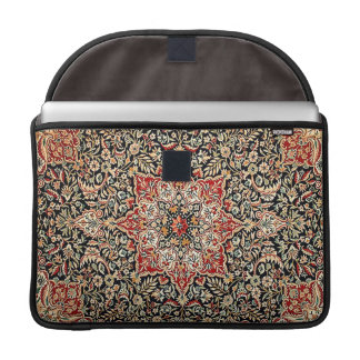 Elegant Ornate Vintage Tapestry in Black Sleeve For MacBook Pro