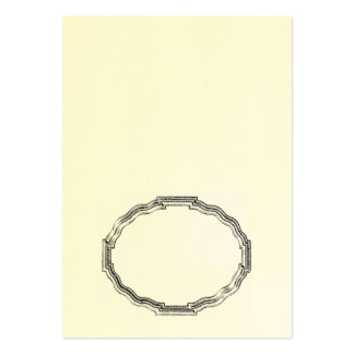 Elegant Oval Frame Fold It Yourself Place Card Large Business Card