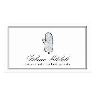 Elegant Oven Mitt Logo II for Bakery, Baked Goods Business Card