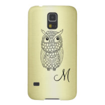 Elegant owl golden case for galaxy s5