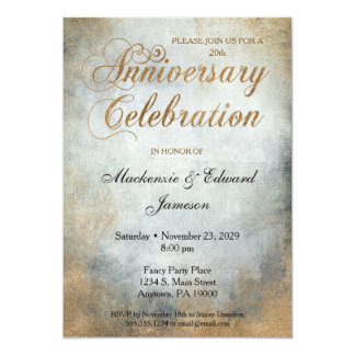 Elegant Paint Copper Anniversary Party Invitation