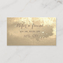 Elegant ,Paint Stroke,Sparkling   Referral Card